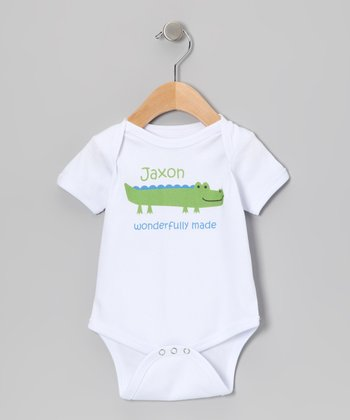 Green 'Wonderfully Made' Personalized Bodysuit - Infant