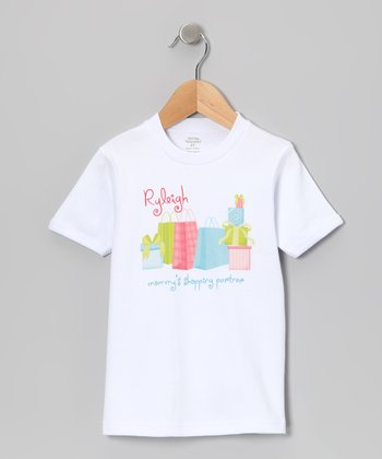 White 'Shopping Partner' Personalized Tee - Toddler