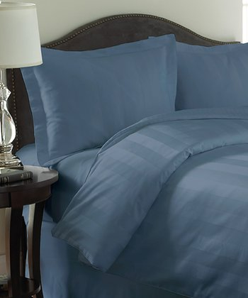 Slate Blue Rich Reversible Comforter Set