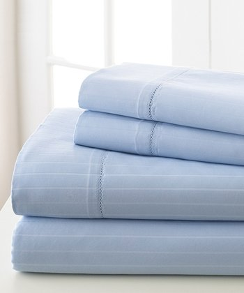 Sky Blue Stripe 700-Thread Count Sheet Set