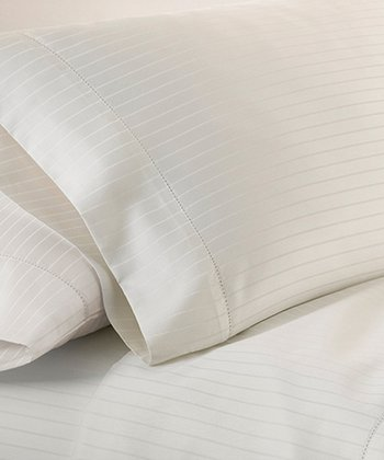 Ivory Stripe 700-Thread Count Sheet Set