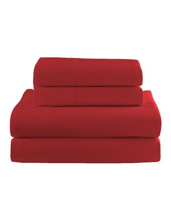Red Flannel Sheet Set
