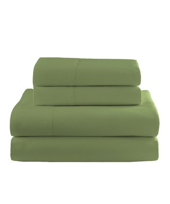 Green Flannel Sheet Set