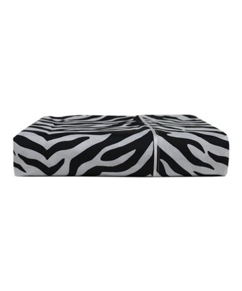 Black Zebra Colonial Microfiber Full Sheet Set