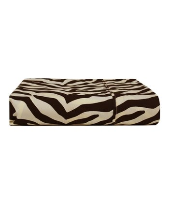 Brown Zebra Colonial Microfiber Sheet Set