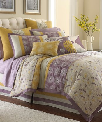 Swirl Burst Embroidered Comforter Set