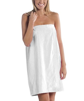 White Velour Spa Wrap