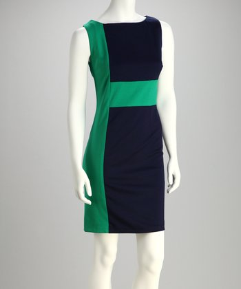 Kelly & Navy Dress