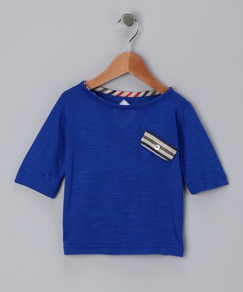 Blue Pocket Tee - Toddler & Girls