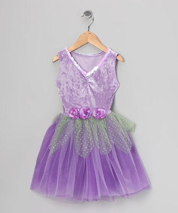 Lilac Sequin Velvet Dress - Toddler & Girls