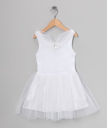 White Velvet Princess Dress - Toddler & Girls