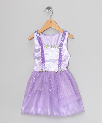 Lilac Sequin Suspender Dress - Toddler & Girls
