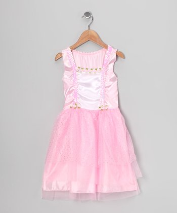 Pink Sequin Suspender Dress - Toddler & Girls