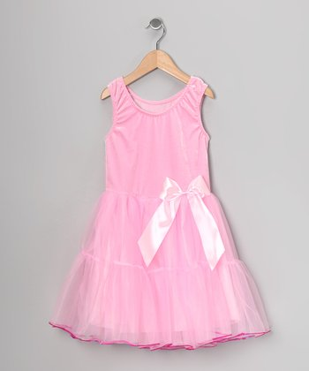 Pink Velvet Sequin-Trim Dress - Toddler & Girls