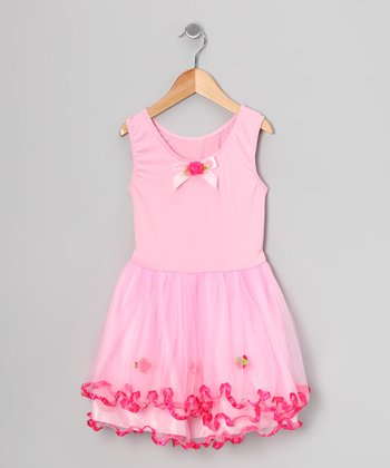 Pink Curly Ruffle Dress - Toddler & Girls