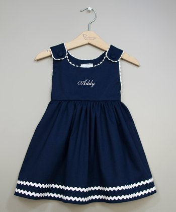 Navy & White Personalized Jumper - Infant, Toddler & Girls
