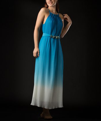 Turquoise Ombré Dress