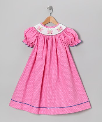 Hot Pink Butterfly Bishop Dress - Infant & Toddler