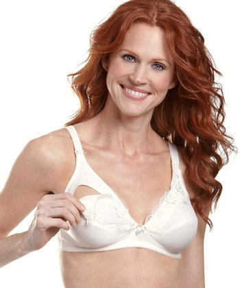 Ivory Lace Wireless Nursing Bra - Women