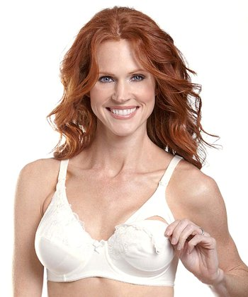 Ivory Lace Underwire Nursing Bra - Women