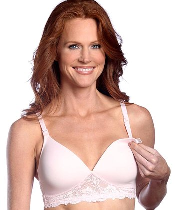 Pink Seamless Wireless Nursing Bra - Women