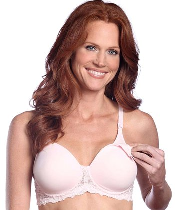 Pink Seamless Underwire Nursing Bra - Women