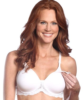White Seamless Underwire Nursing Bra - Women