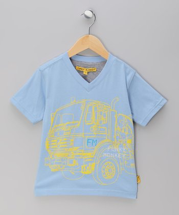 Blue Truck V-Neck Tee - Toddler & Boys