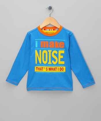 Blue 'I Make Noise' Tee - Toddler & Boys