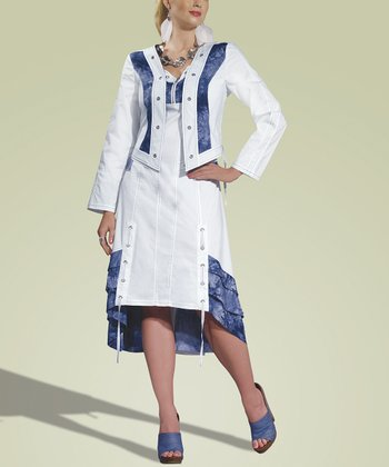 White Dress & Jacket Set - Women & Plus