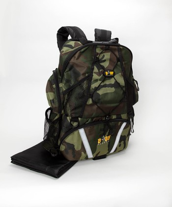 Baby Sherpa Camo Four-in-One Diaper Backpack