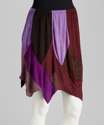 Purple Patchwork Skirt