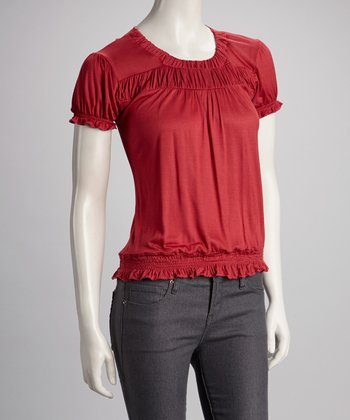 Pink Ruched Top - Women