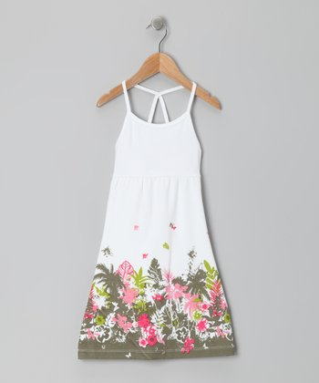 White Summer Garden Dress - Infant, Toddler & Girls