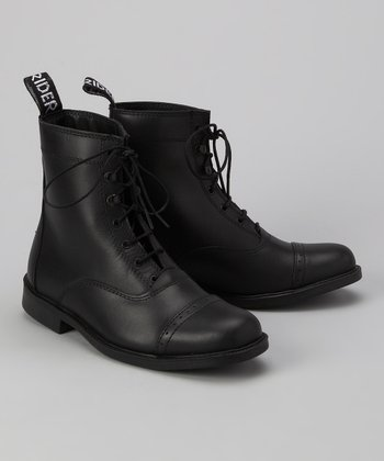 Black Laced Paddock Boot