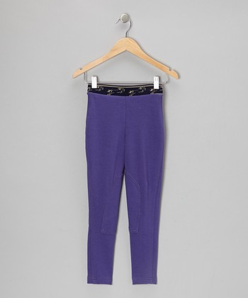Deep Purple Schooler Leggings - Girls