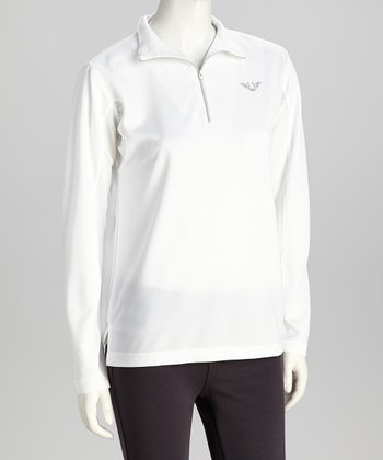 White Ventilated Pullover - Women & Plus