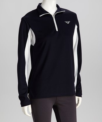 Navy Ventilated Pullover - Women & Plus