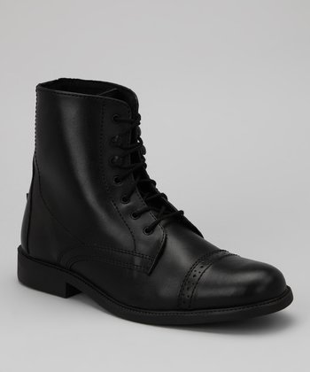 Black Laced Starter Paddock Boot - Women
