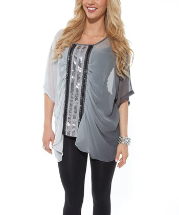 Gray Ombré Top - Women