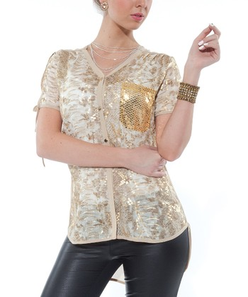 Gold Embellished Tunic - Women