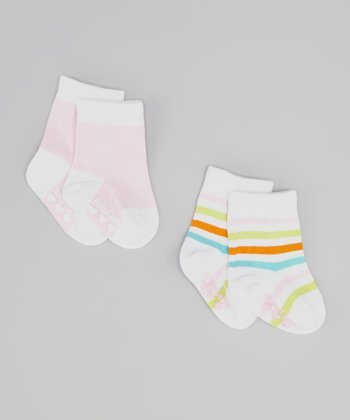 Pink & Green Caroline Socks Set