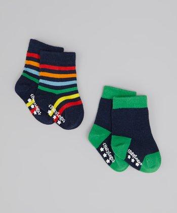 Navy Isaac Junior Socks Set