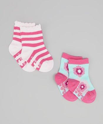 Mint & Pink Silk Road Socks Set