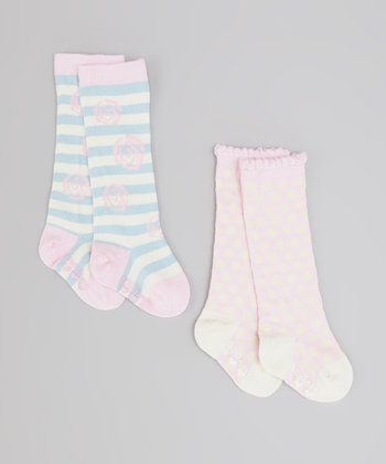Pink & Blue Darling Socks Set