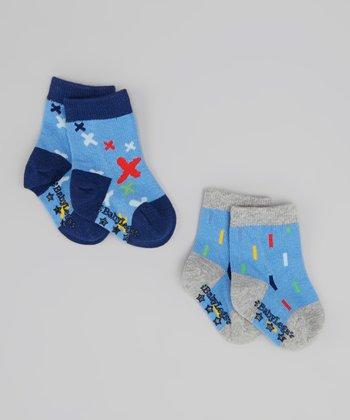 Blue Fun & Games Socks Set