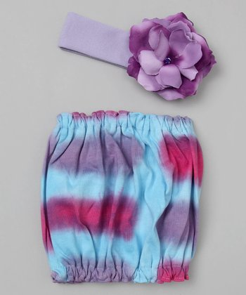 Blue & Lavender Tie-Dye Pipette Set - Infant