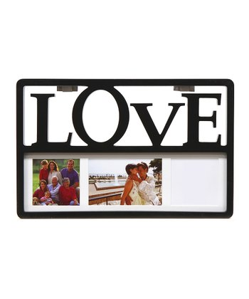 Black 'Love' Collage Frame
