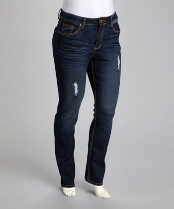 Dark Blue Edna Skinny Jeans - Plus