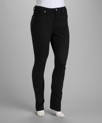 Black Stretch Skinny Jeans - Plus